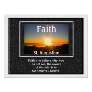 Faith quote - poster