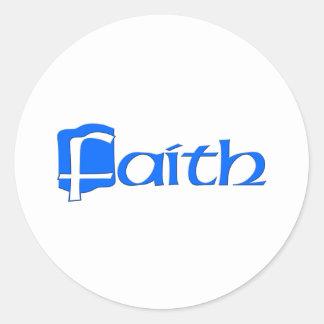 Faith Round Sticker