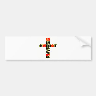 Faith Saves Cross Bumper Sticker