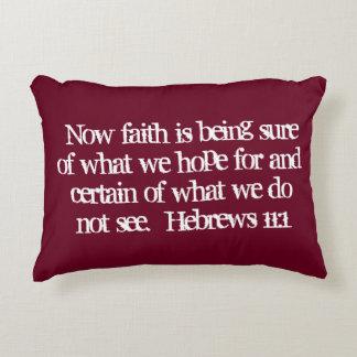 """""""Faith"""" Scripture Accent Pillow"""