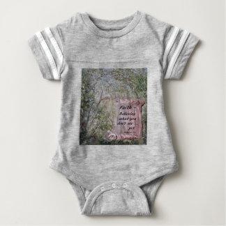 Faith Scroll Baby Bodysuit