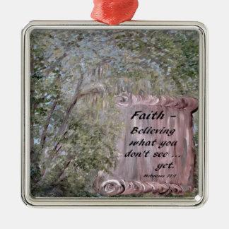 Faith Scroll Metal Ornament