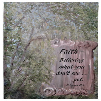 Faith Scroll Napkin