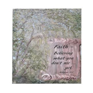 Faith Scroll Notepad