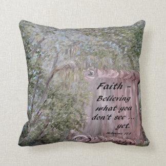 Faith Scroll Throw Pillow