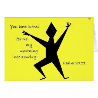 Faith Series Yellow Psalm 30:11 Scripture Art Card