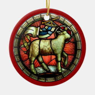 FAITH STAINED GLASS ORNAMENT