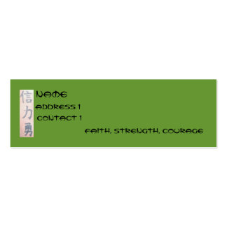 Faith, Strength, Courage Pack Of Skinny Business Cards