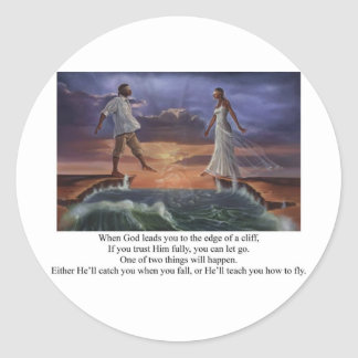 Faith Walk Classic Round Sticker