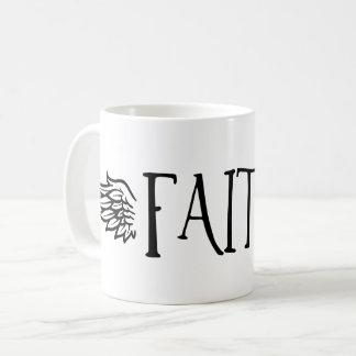 FAITH - with wings Coffee Mug
