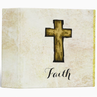 Faith Wooden Cross Symbol of Hope and Inspiration Vinyl Binders