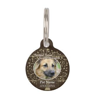 Faithful Friend Custom Pet Sympathy Pet Name Tags
