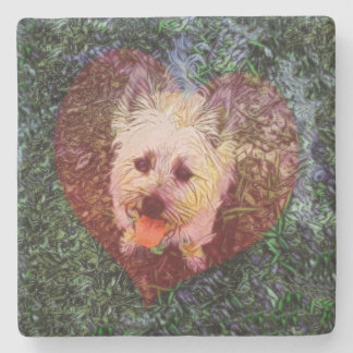 Faithful Love Square Stone Coaster