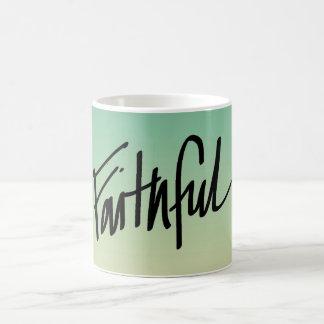 Faithful with Hearts on Seafoam Mug