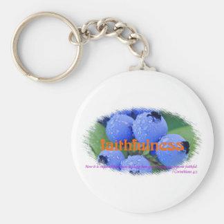 Faithfulness Basic Round Button Keychain