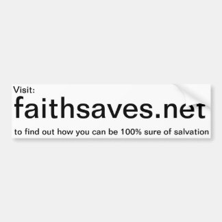 Faithsaves.net promotion sticker