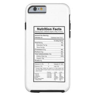faits de nutrition coque iPhone 6 tough