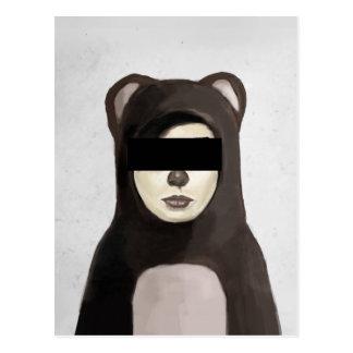 fake bear postcard