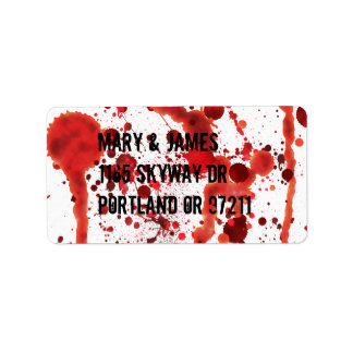 Fake Blood Splatters Label