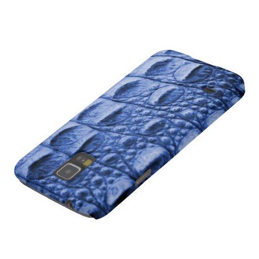 Fake blue croc skin galaxy nexus cases