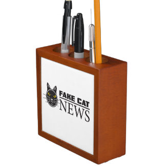 Fake Cat News Desk Organizer