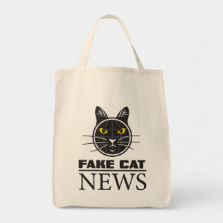 Fake Cat News Grocery Tote