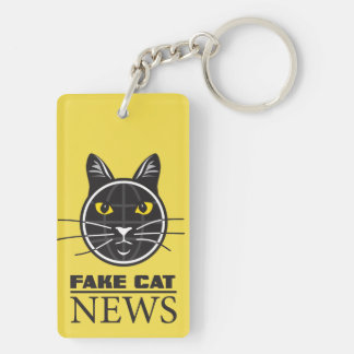 Fake Cat News Key Chain