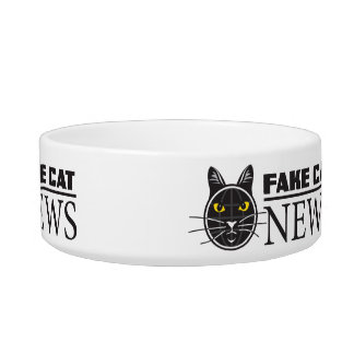 Fake Cat News Medium Pet Bowl
