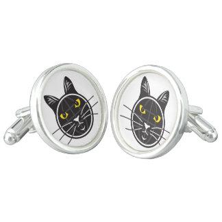 Fake Cat News Tazmo Logo Cufflinks, Silver Plated Cufflinks