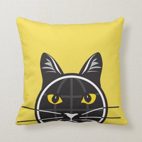 Fake Cat News Tazmo Logo Pillow