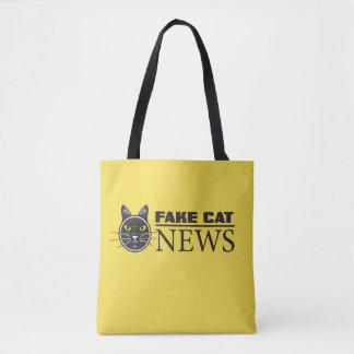 Fake Cat News Tote Bag