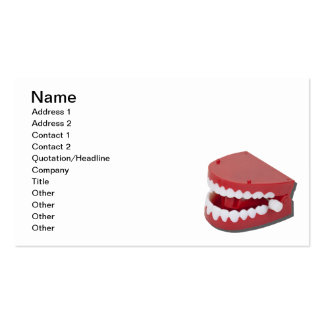Fake Chattering Teeth Business Card Template
