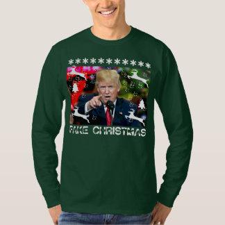 Fake Christmas Donald Trump Ugly Christmas Shirt 2