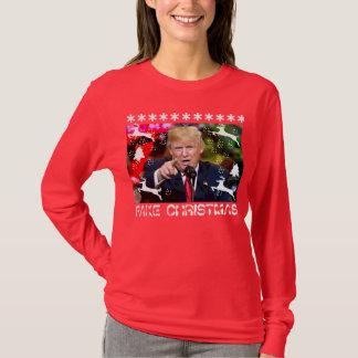 Fake Christmas Trump Ugly Christmas Sweater, women T-Shirt