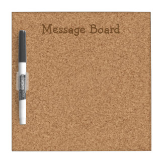 Fake Corkboard Look Dry Erase Board