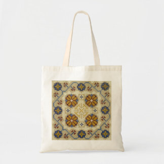 Fake cross stitch embroidered bag