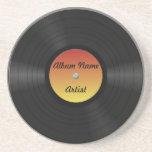 Fake Custom Vinyl Record Drink Coasters
