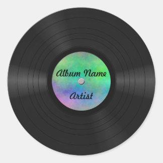Fake Custom Vinyl Record Round Sticker