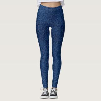 Fake DEnim Jeans blue Leggings