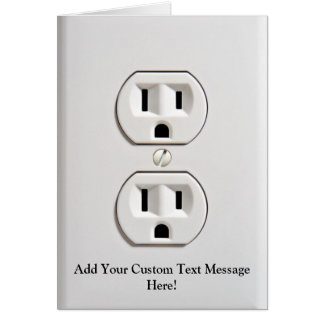 Fake Electrical Outlet Card