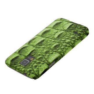 Fake green croc skin galaxy s5 cover