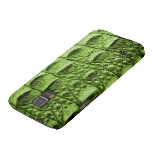 Fake green croc skin samsung galaxy nexus cases