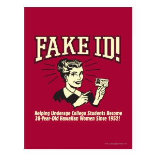 Fake ID: Underage College Hawaiian Postcard