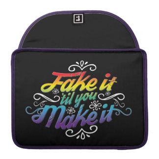Fake It 'Til You Make It Rainbow Laptop Sleeve MacBook Pro Sleeve
