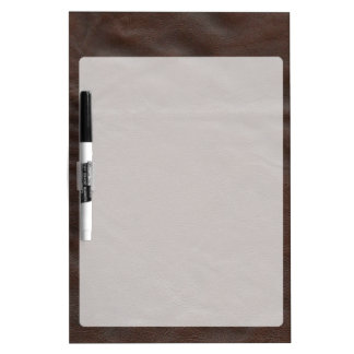 Fake Leather Design Dry Erase White Board