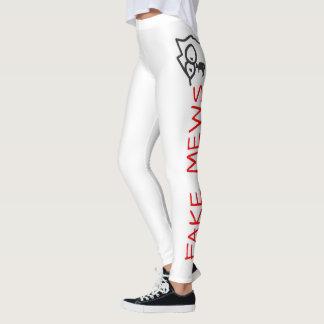 fake mews leggings