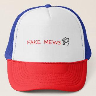 fake mews trucker hat