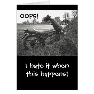 (FAKE)MOTORBIKE CRASH INTO HAY BALE /HUMOR CARD
