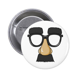 Fake Moustache Face 2 Inch Round Button