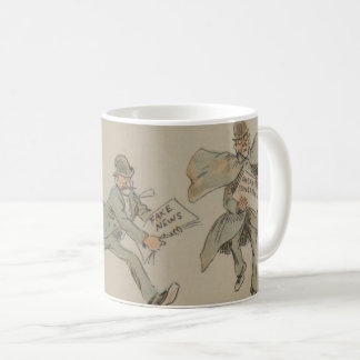 """Fake News"" 1894 Puck Magazine Coffee Mug"